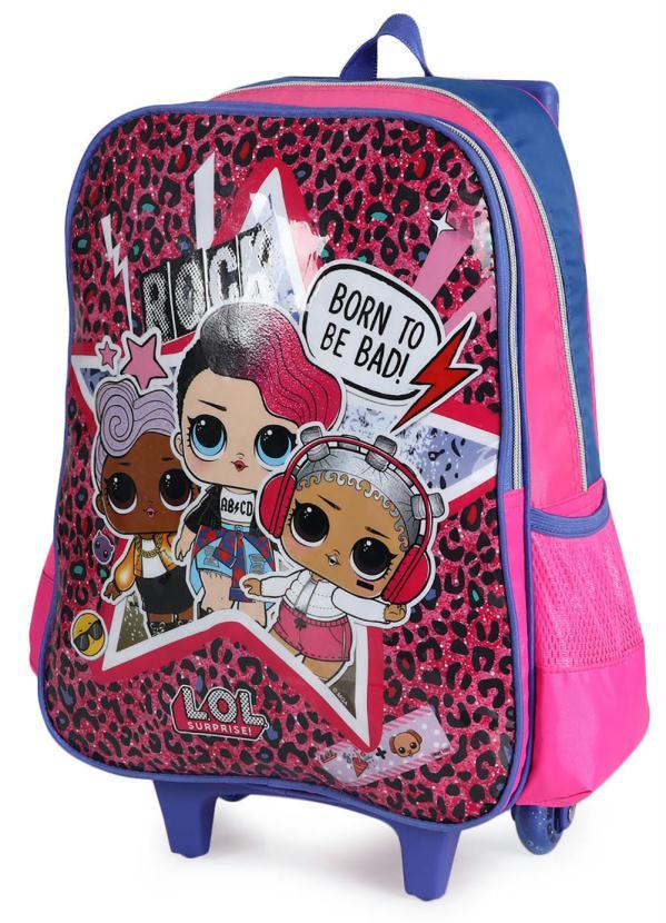 Mochilete Infantil Luxcel Lol Surprise Cactos Pink