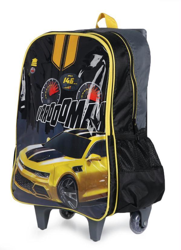 Mochilete Infantil Luxcel Stock Car Amarelo