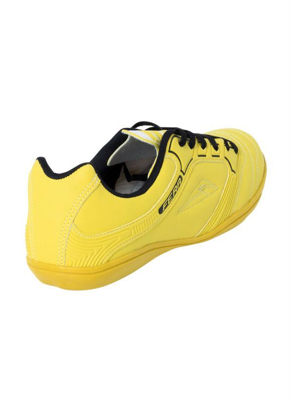 Chuteira Futsal Amarela com Sola Pvc