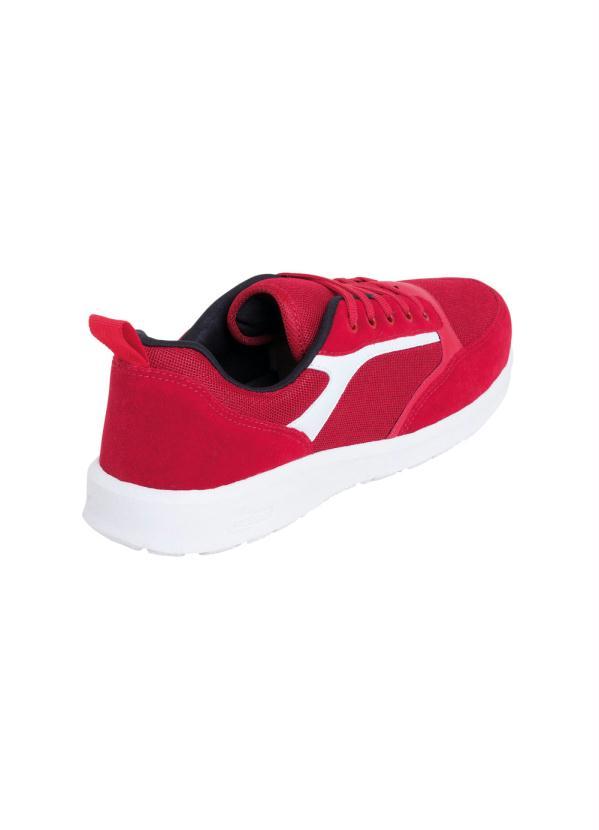 Tênis Vermelho em Tecido com Camurça