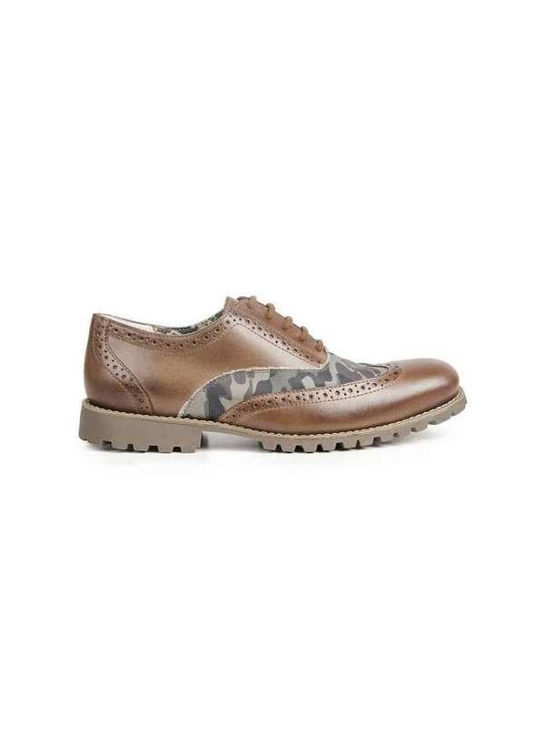 Sapato Masculino Casual Brogue Sandro Moscoloni Ja
