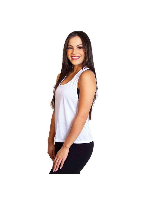 Camiseta Feminina Regata Luma Ventura Poli Branca