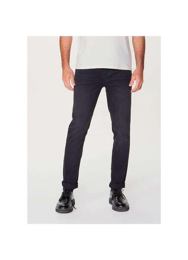 Calça Masculina Skinny em Jeans de Algodão e Elast