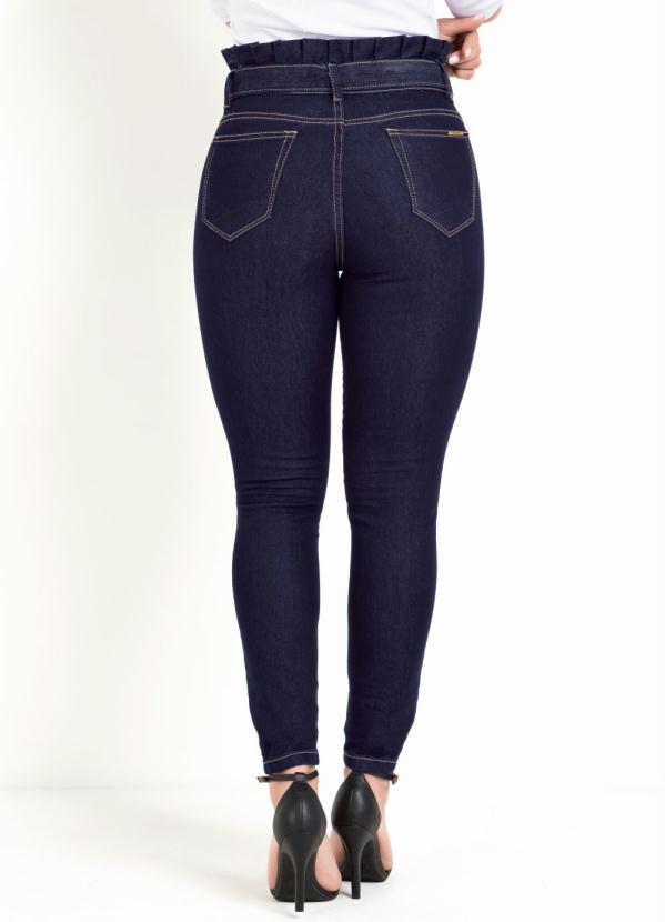 Calça Skinny Clochard Jeans Escura Sawary