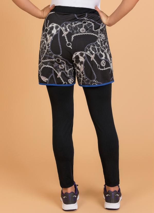 Shorts Legging Fitnnes Moda Evangélica Correntes