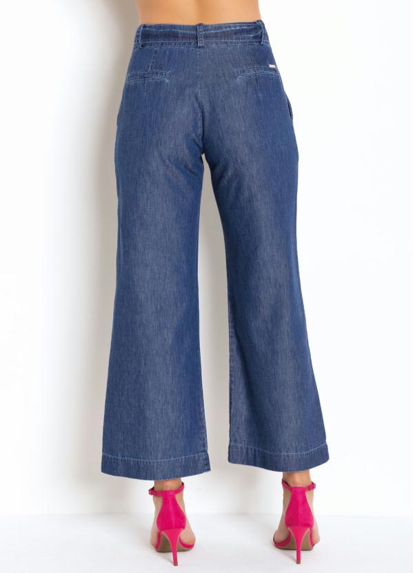 Calça Pantacurt Jeans com Cinto