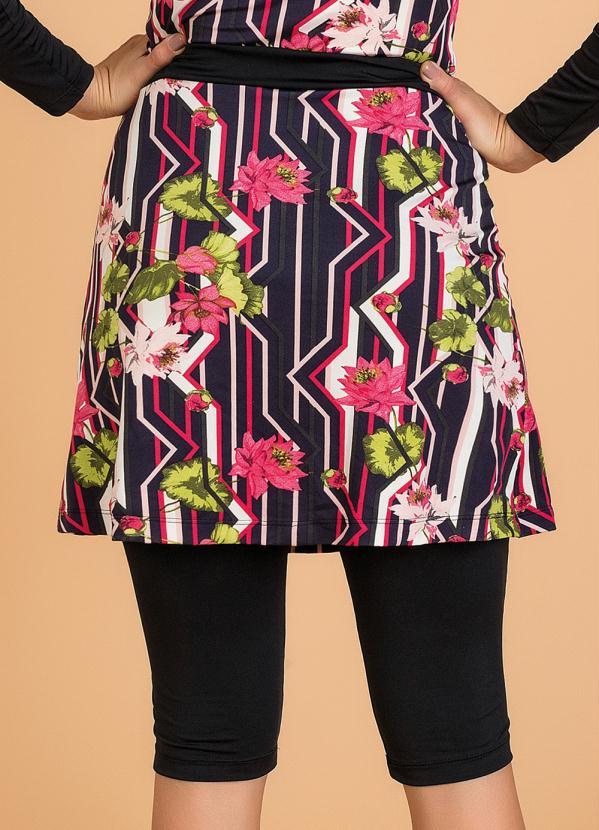 Shorts Saia Fitness Floral Moda Evangélica
