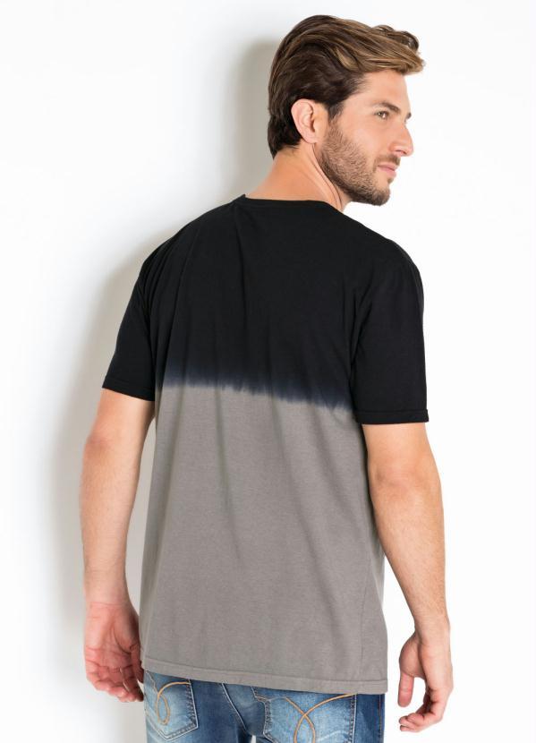 Camiseta Imersão Actual com Estampa Frente Preta
