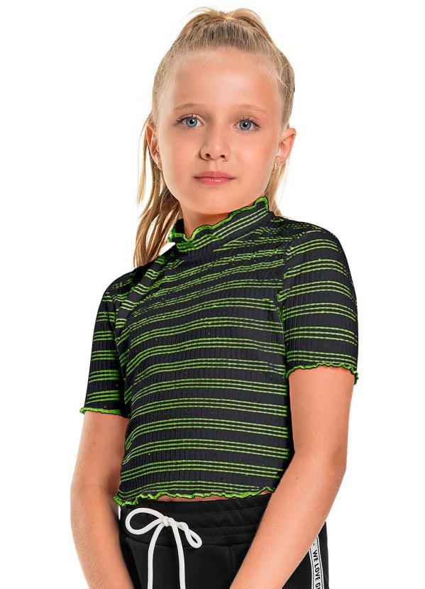 Blusa Infantil Neon Verde
