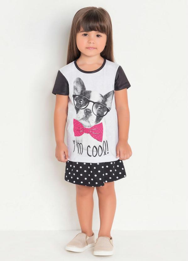 T-Shirt Infantil Estampa Dog Moda Evangélica