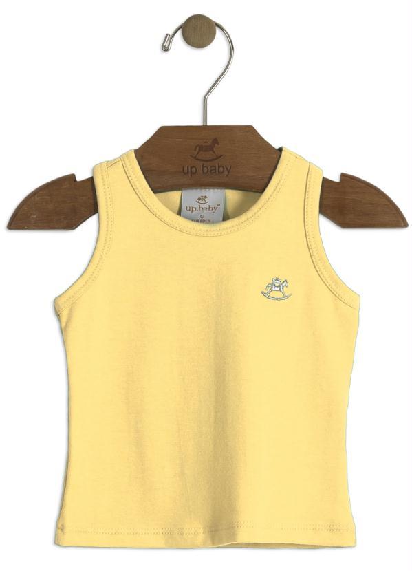 Blusa Lisa Infantil Amarelo Up Baby
