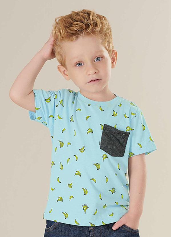 Camiseta Infantil Banana Verde