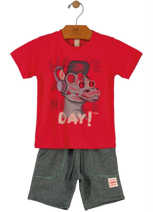 Conjunto Camiseta e Bermuda Vermelho