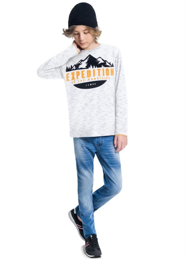Camiseta Teen Masculina Branco